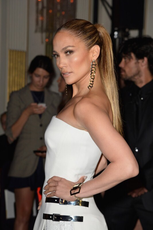 eadff00bc46 Something divine!!! JLo stunned in Paris with a new fashion-legend ...